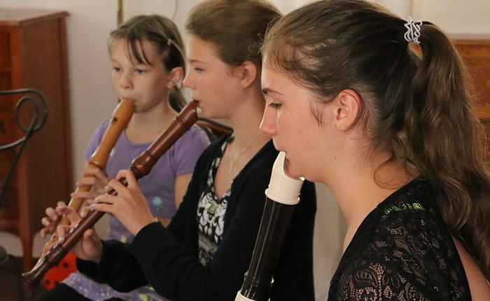 Hannah Beate Konzert Unterricht und Schülerkonzert mit der Blockflöte